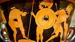 "Greek Vase Painting—""Death of Sarpedon"""
