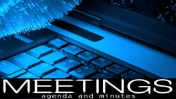 Business Management & HR Training Meetings The Agenda and Minutes