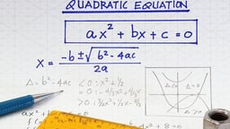 Quadratic Equations - The Quadratic Formula
