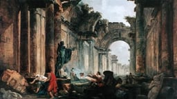 Project for the Disposition of the Grande Galerie of the Louvre (1796) - Hubert Robert