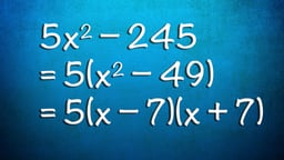 Quadratic Equations - Factoring