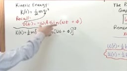 Conservation of Energy in Simple Harmonic Motion - Part 1