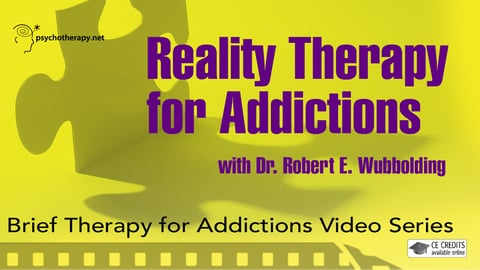 Preview image of Reality therapy for addictions