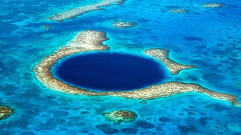 Great Blue Hole-Coastal Symmetry In Sinkholes