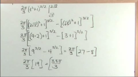 Calculus 2 Advanced Tutor: Learning By Example. Surface Area of Revolution In Parametric Equations