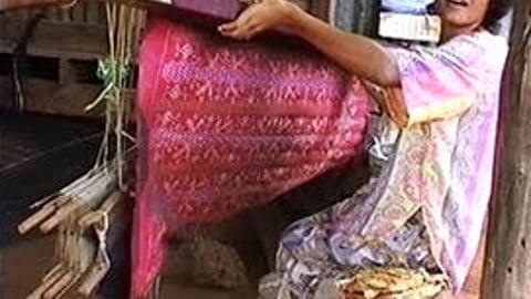Silk Weaving In Thailand