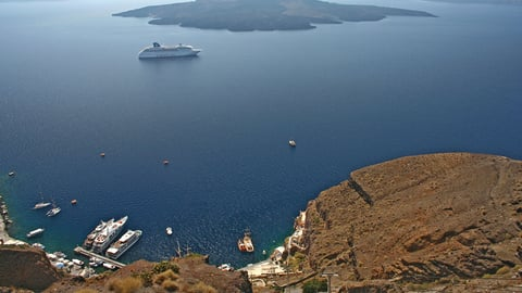 Santorini—Impact of Volcanic Eruptions