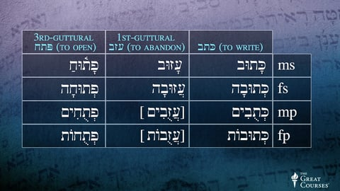 Hebrew Roots With Guttural Letters