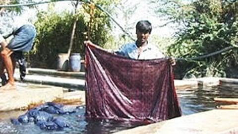 Ajrakh - Mordant Resist And Tie Dye