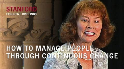 How to Manage People Through Continuous Change - With Carol Kinsey Goman, PhD