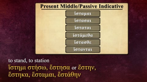 Preview image of Regular -μι Verbs in the Middle/Passive