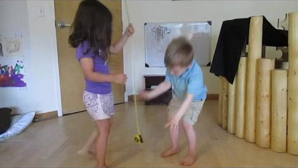 Measuring Tape - Measuring height with a tape - Using the length of a segment of tape vs. the indicated inches on the tape
