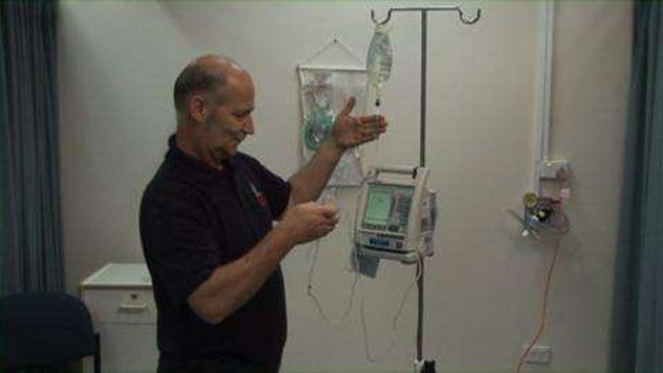 IV using a Pump