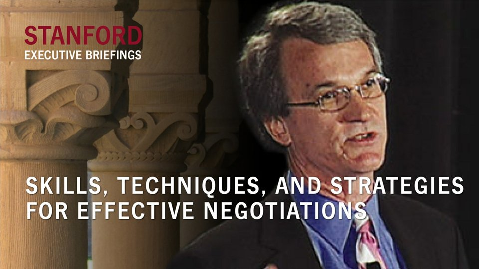 Skills, Techniques and Strategies for Effective Negotiations