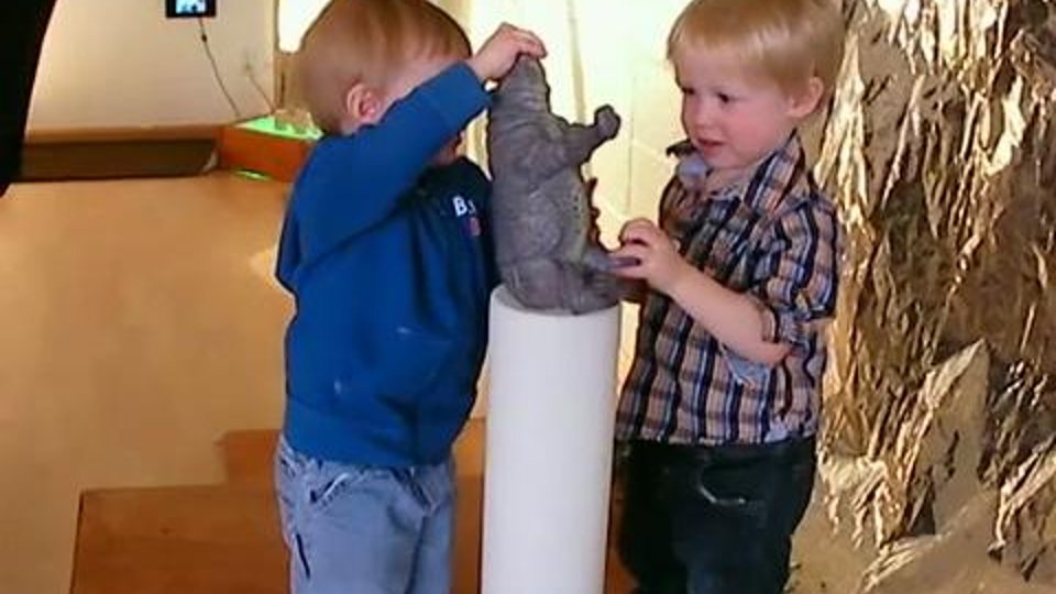 Too Big - Young boys compare the sizes of objects and containers
