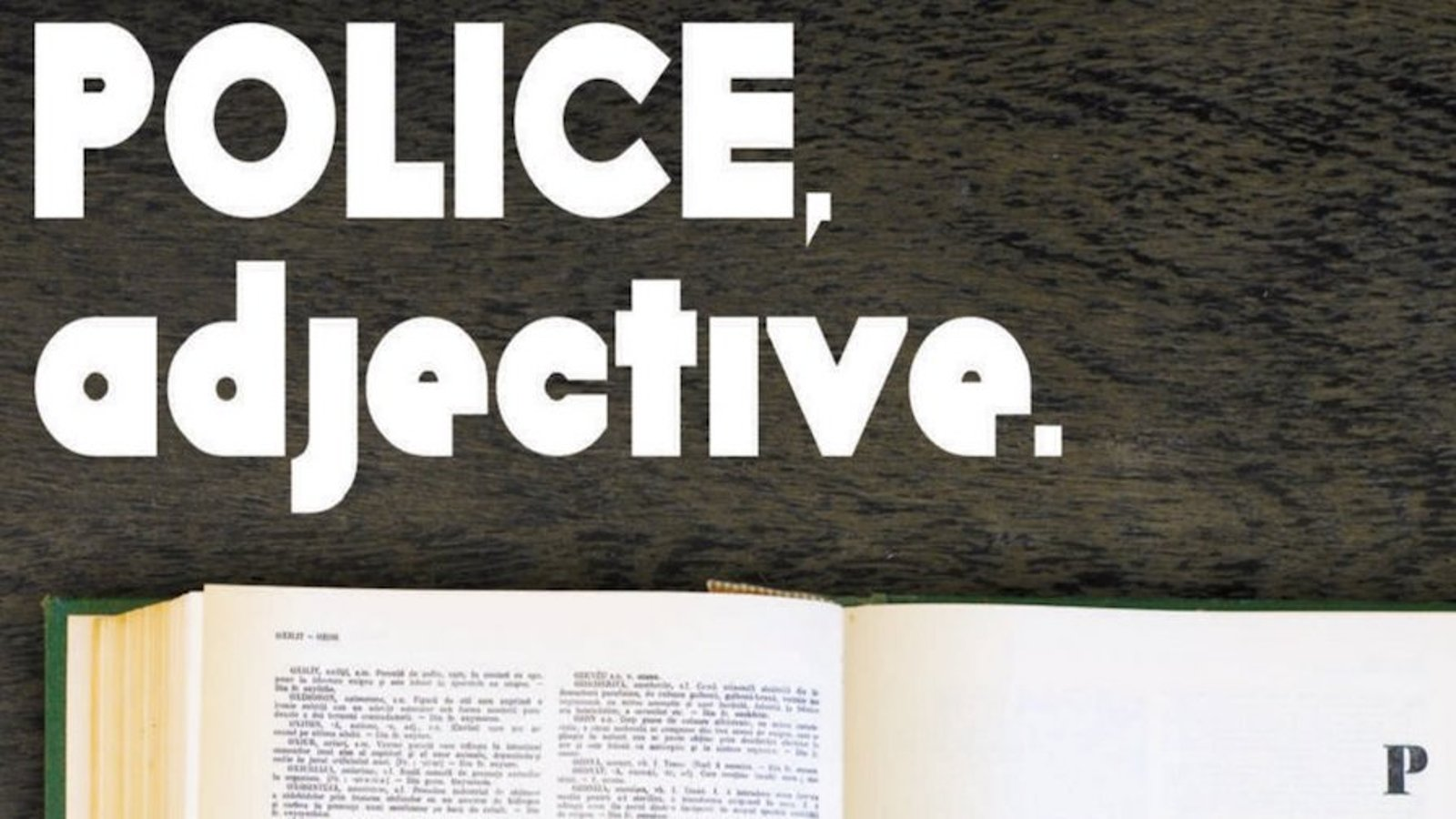 Police, Adjective - Politist, adjectiv