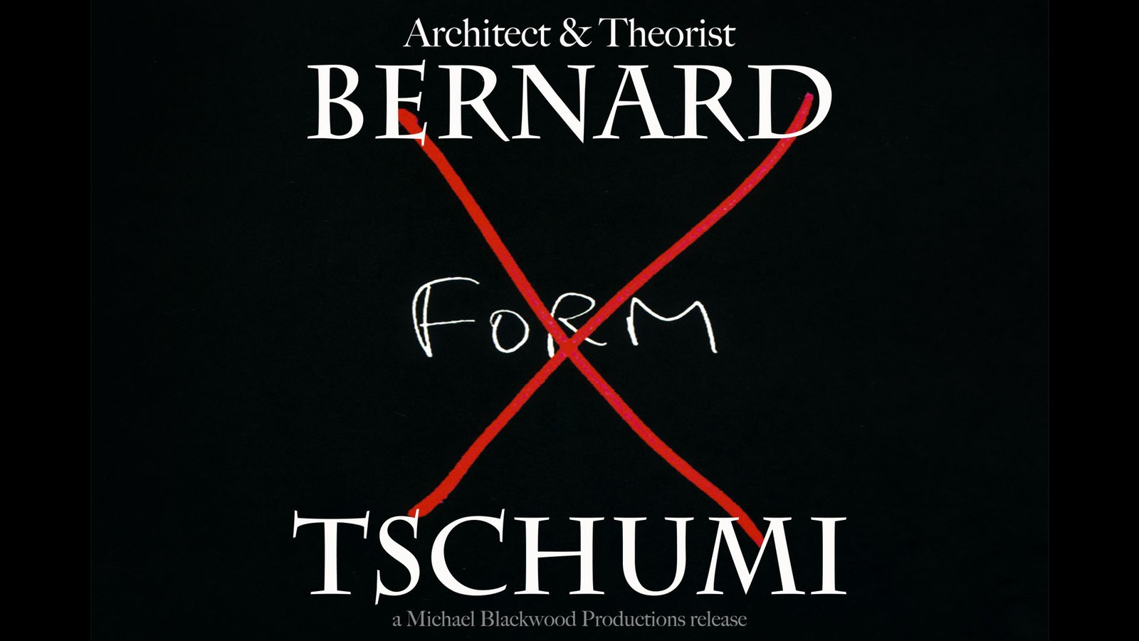 Bernard Tschumi: Architect and Theorist
