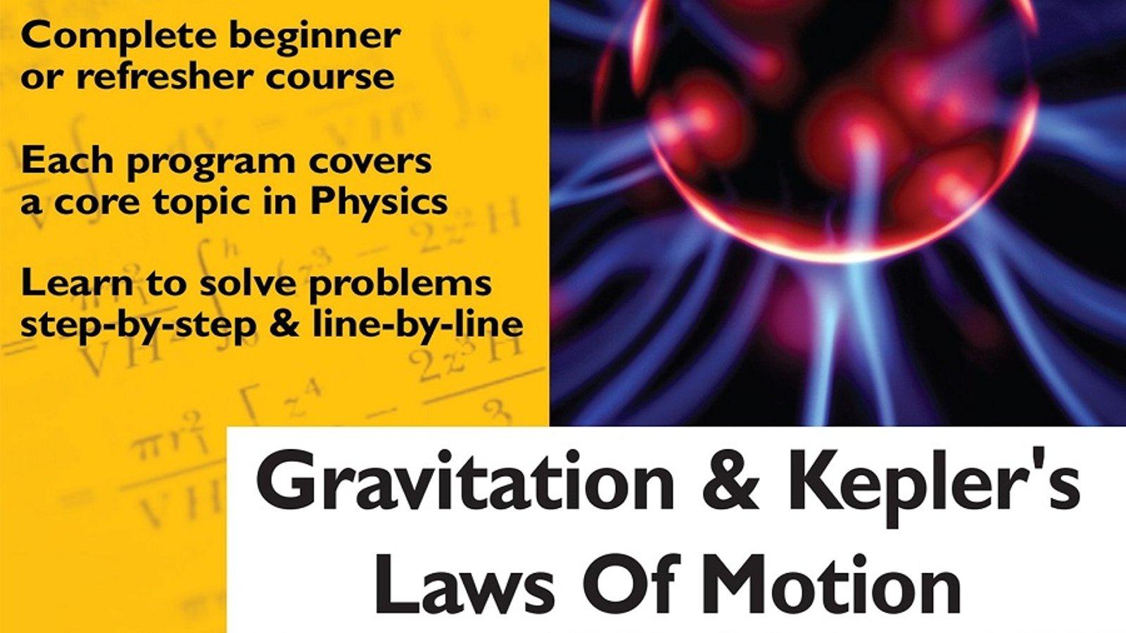 Gravitation and Kepler's Laws Of Motion
