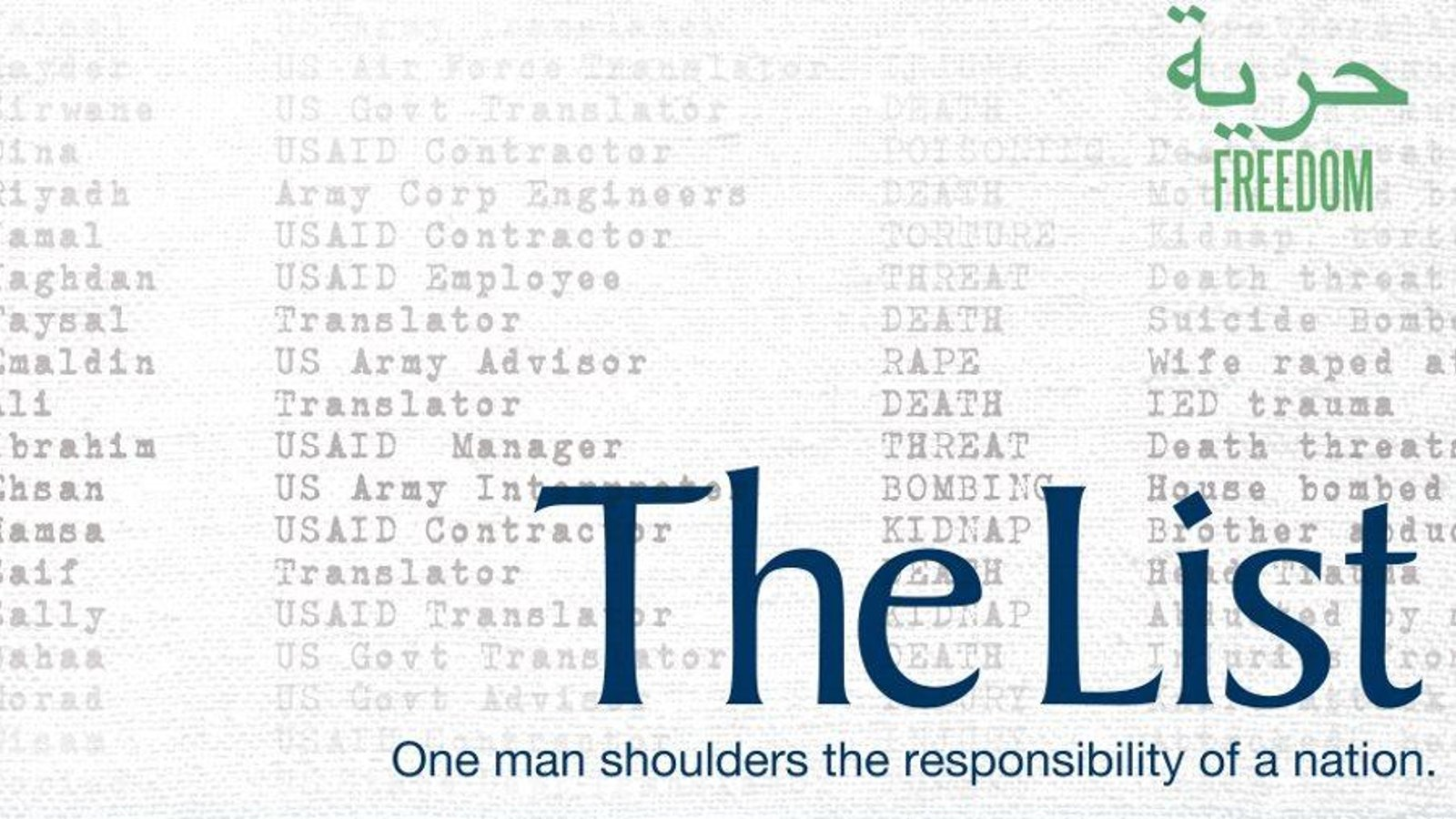 The List - An American Protecting Iraqi Allies from the U.S. Government